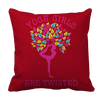 Limited Edition - Yoga Girls Are Twisted Pillow Cases Pillow Cases Red