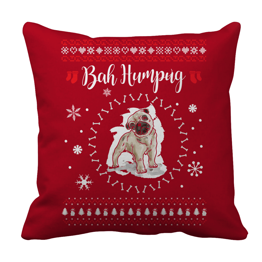 Limited Edition - Bah Humpug Pillow Cases Pillow Cases Red