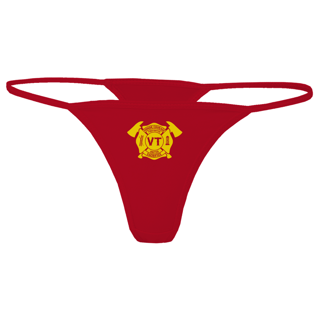 Limited Edition - Vermont Firefighters United Thong Thong Red S