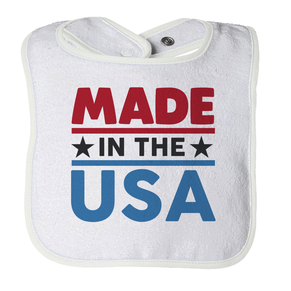 Made In The USA - 1 Bibs Bibs White O/S