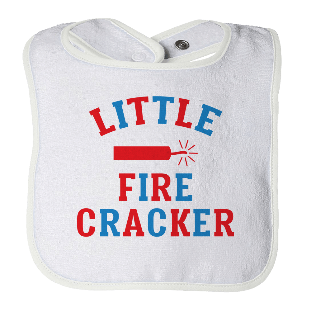 Little Fire Cracker Bibs Bibs White O/S