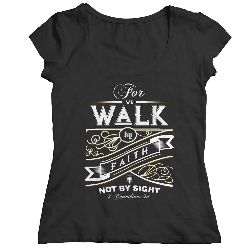 For We Walk by Faith Unisex Shirt Ladies Classic Shirt Black S