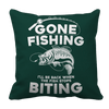 Gone Fishing Pillow Cases Pillow Cases Forest Green