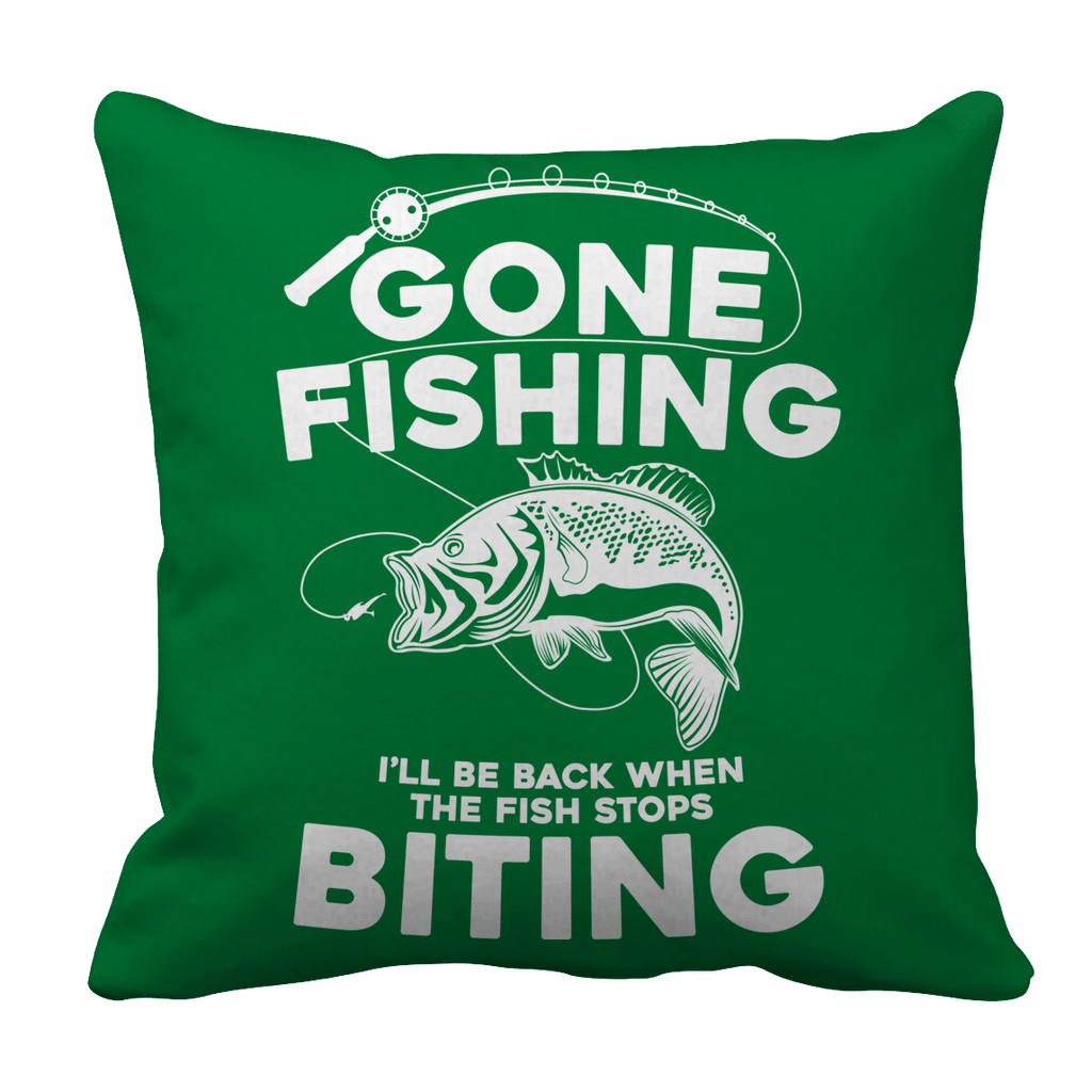 Gone Fishing Pillow Cases Pillow Cases Kelly