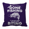 Gone Fishing Pillow Cases Pillow Cases Purple