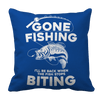 Gone Fishing Pillow Cases Pillow Cases Royal