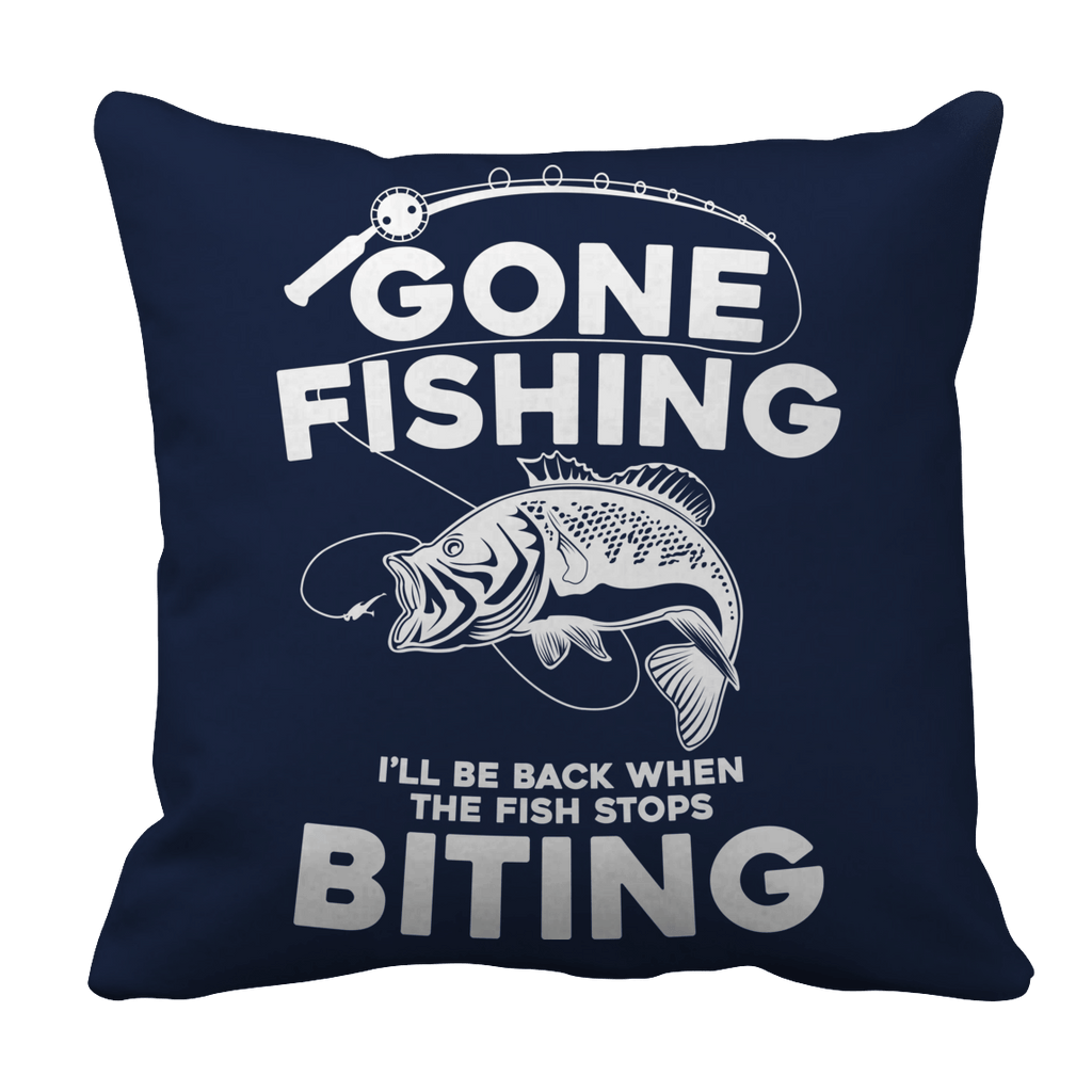 Gone Fishing Pillow Cases Pillow Cases Navy