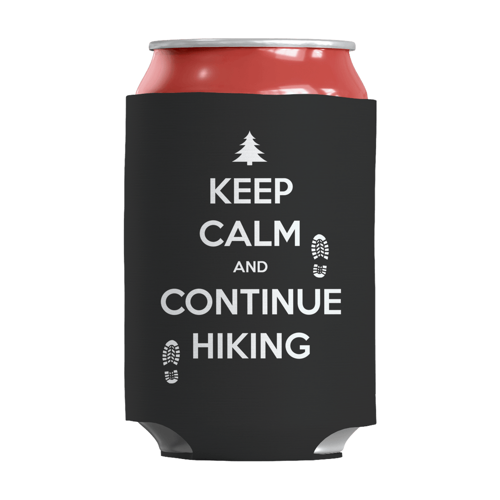 Keep Calm And Continue Hiking Can Wraps Can Wraps Black