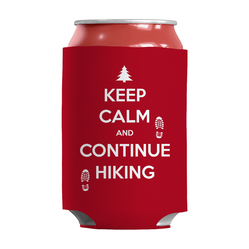 Keep Calm And Continue Hiking Can Wraps Can Wraps Red