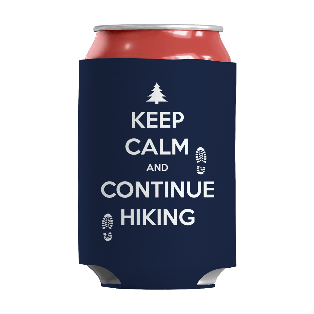 Keep Calm And Continue Hiking Can Wraps Can Wraps Navy