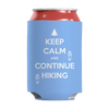 Keep Calm And Continue Hiking Can Wraps Can Wraps Light Blue