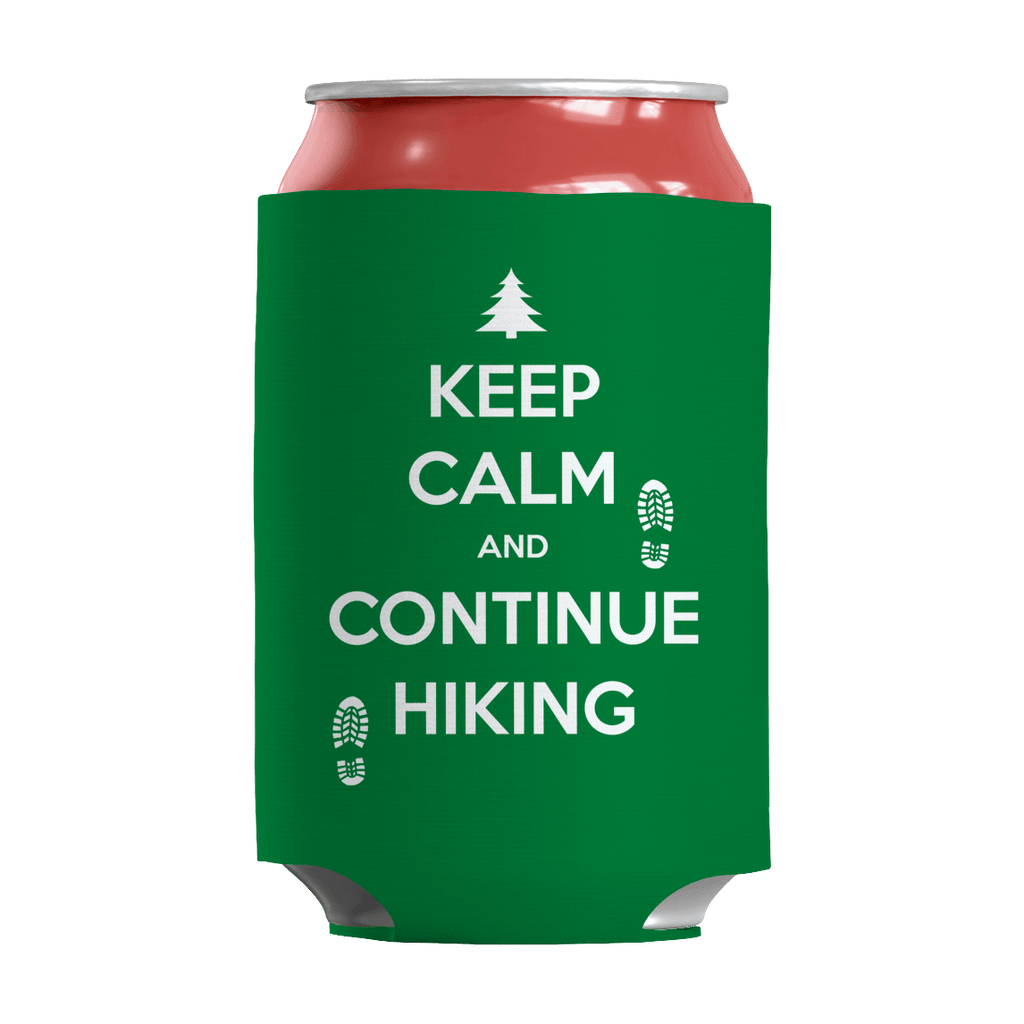 Keep Calm And Continue Hiking Can Wraps Can Wraps Kelly