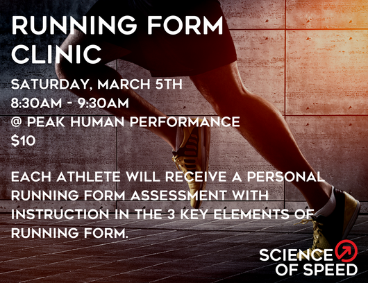 Running Form Clinic - May 5th
