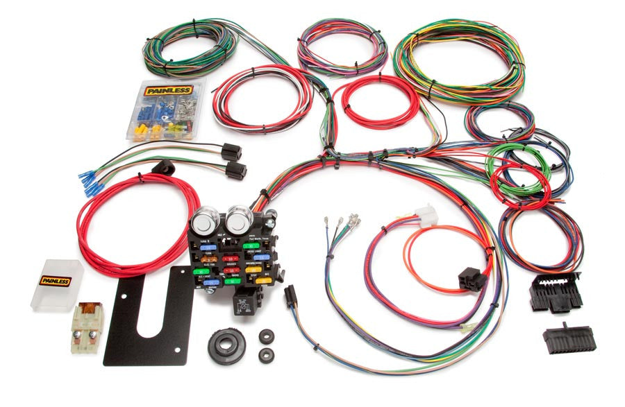 collections painless performance 10103 classic customizable pickup chassis harness gm keyed column 21 circuits