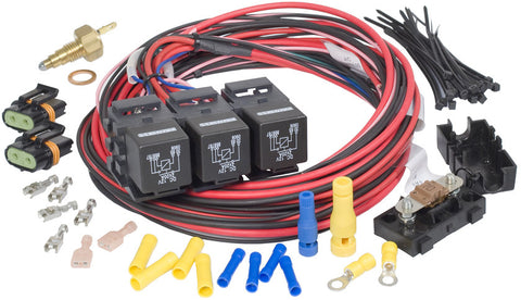 30118 - GEN III, IV Truck Dual Activation/Dual Fan Relay Kit (on 205, off 190)