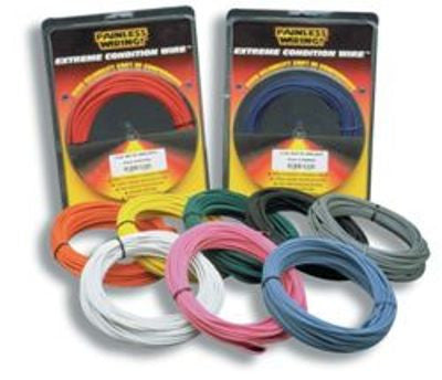 70819 - 14 Gauge Yellow TXL Wire w/White Stripe (50')