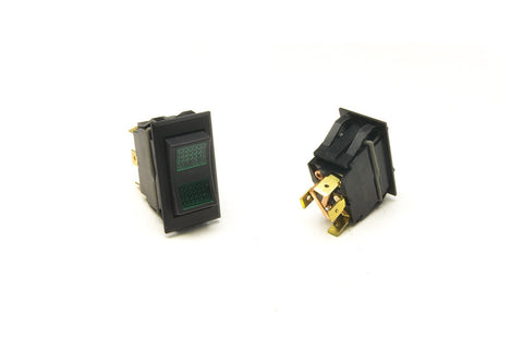 80402 - Rocker Switch/On-Off-Momentary On/Green Lighted