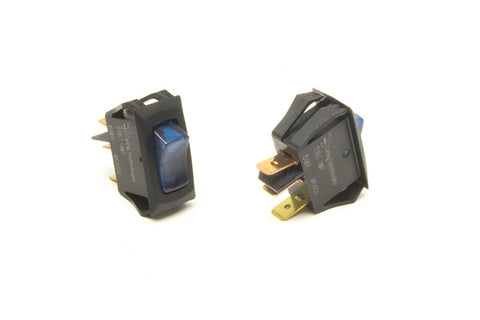 80412 - Small Rocker Switch (On/Off, Blue Lighted)