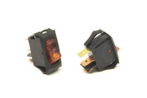 80414 - Small Rocker Switch (On/Off, Amber Lighted)