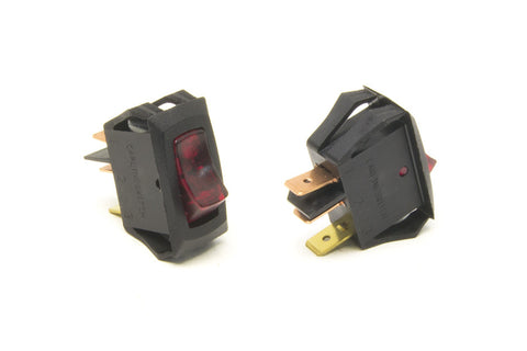 80415 - Small Rocker Switch (On/Off, Red Lighted)