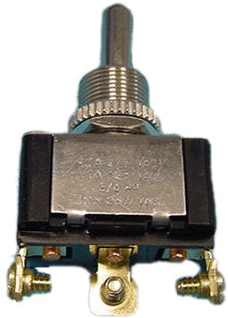 80512 - Heavy Duty Toggle Switch - On/Off/On, Single Pole, 20 Amp