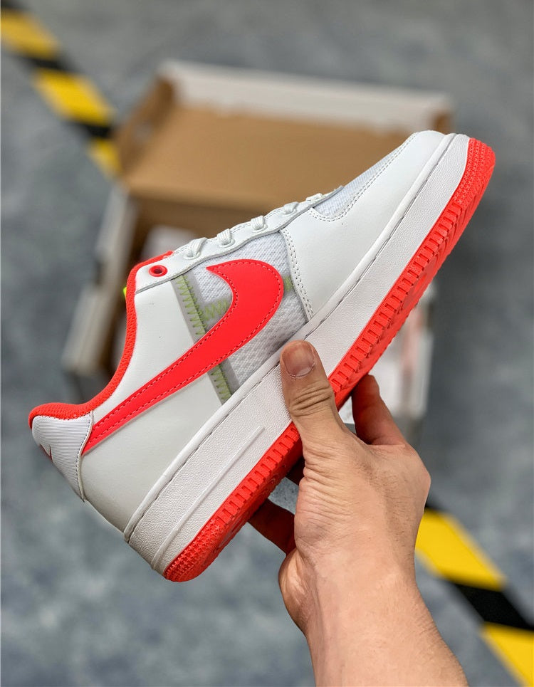 "Nike Air Force 1 Low ""White/Bright Crimson"""