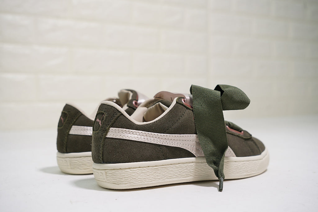 "PUMA Suede Heart Silk Gloss ""Olive Green"""