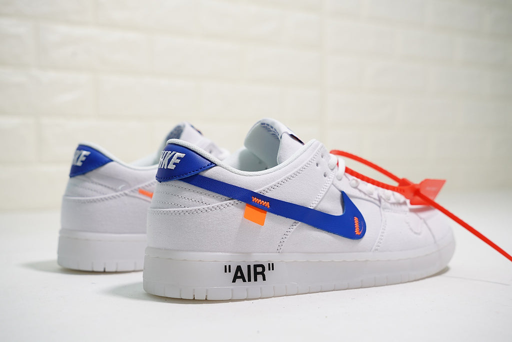 "Virgil Abloh x Nike Dunk Low Pro SB Canvas ""White/Blue"""