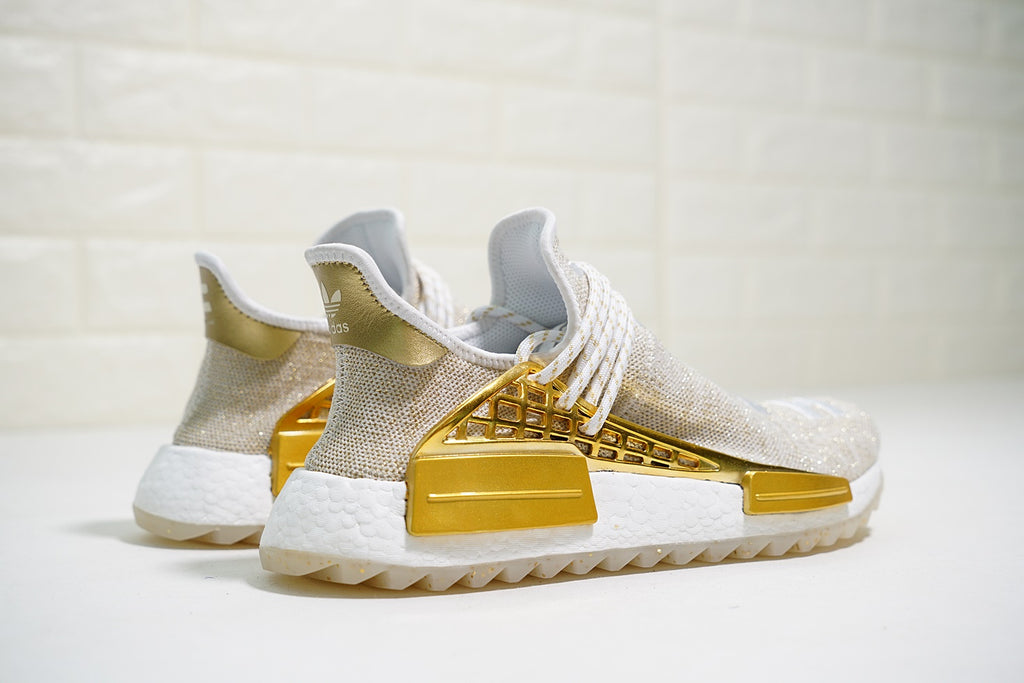 "Pharrell x Adidas NMD Human Race Trail China Exclusive ""Happy Gold"""