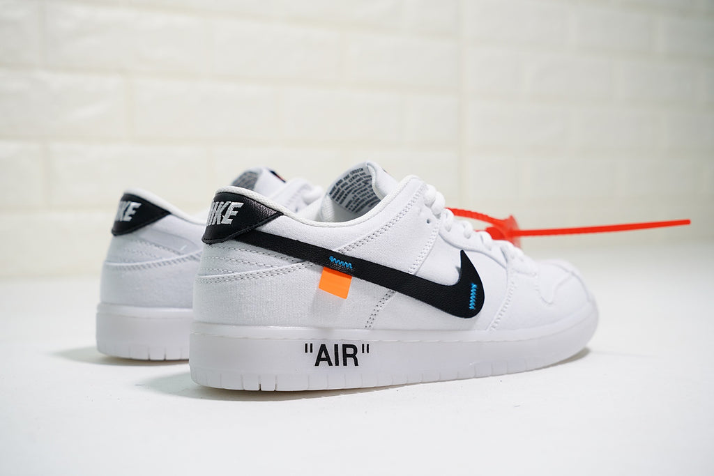 "Virgil Abloh x Nike Dunk Low Pro SB Canvas ""White/Black"""