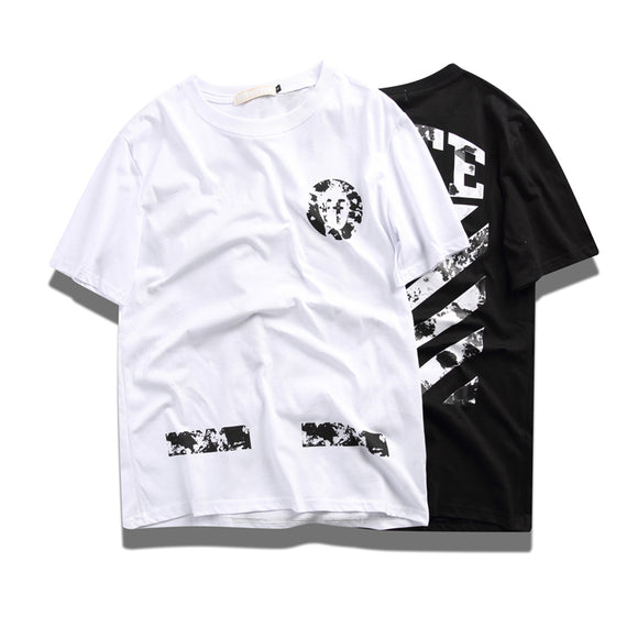 Off White Marble Printing T-Shirt #190311011