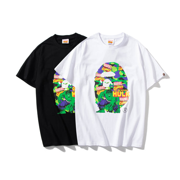 A Bathing Ape x Marvel Camo The Hulk T-Shirt #190604034