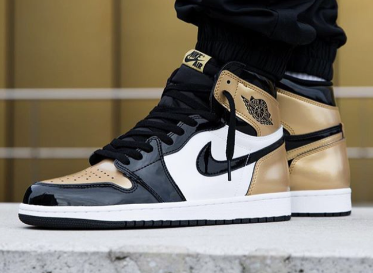 air jordan 1 retro high gold
