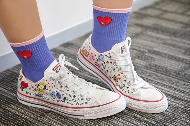 9c38373cd701d2 BT21 x Converse Chuck Taylor All Star Low Top