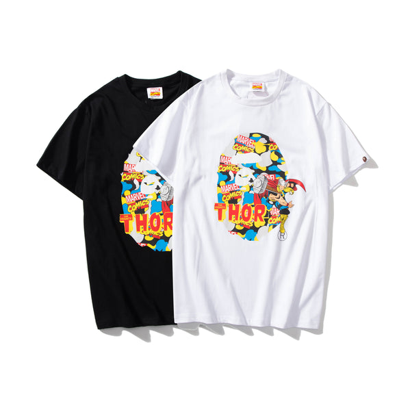 A Bathing Ape x Marvel Camo Mighty Thor T-Shirt #190604036