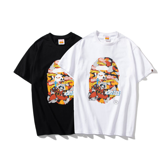 A Bathing Ape x Marvel Camo Rocket Raccoon T-Shirt #190604033