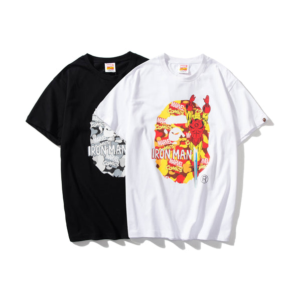 A Bathing Ape x Marvel Camo Iron Man T-Shirt #190604037