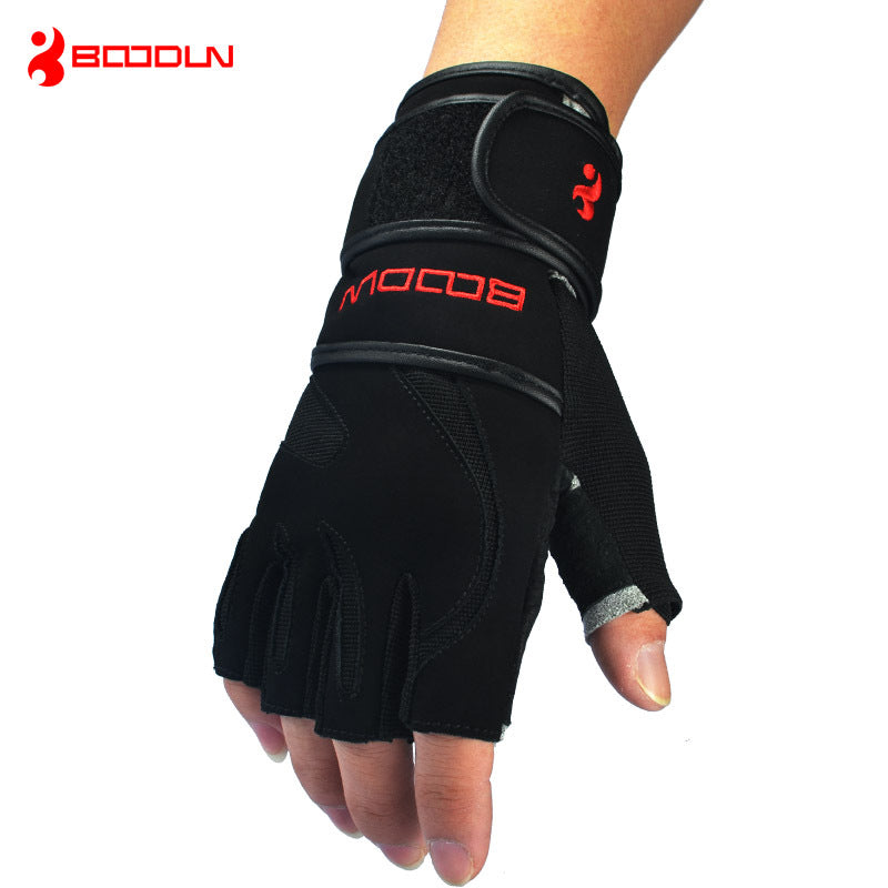 Leather Men's Half Finger Gloves