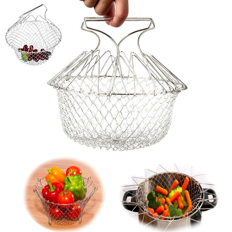 Foldable Stainless Fry Basket