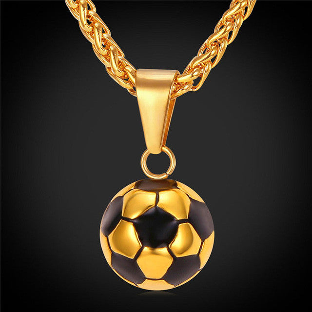 Soccer Jewelry Pendant Necklace