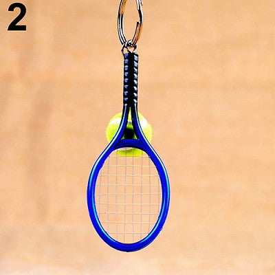 Mini Tennis Racket Key Chain Ring