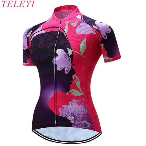 Women's Cycling Jersey With Cool-Max Fabric