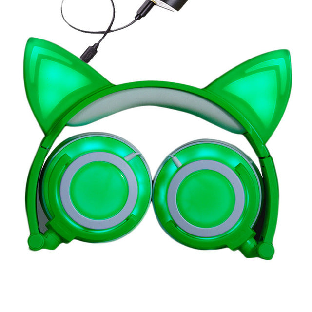 Cat Luminous Gaming Headphones