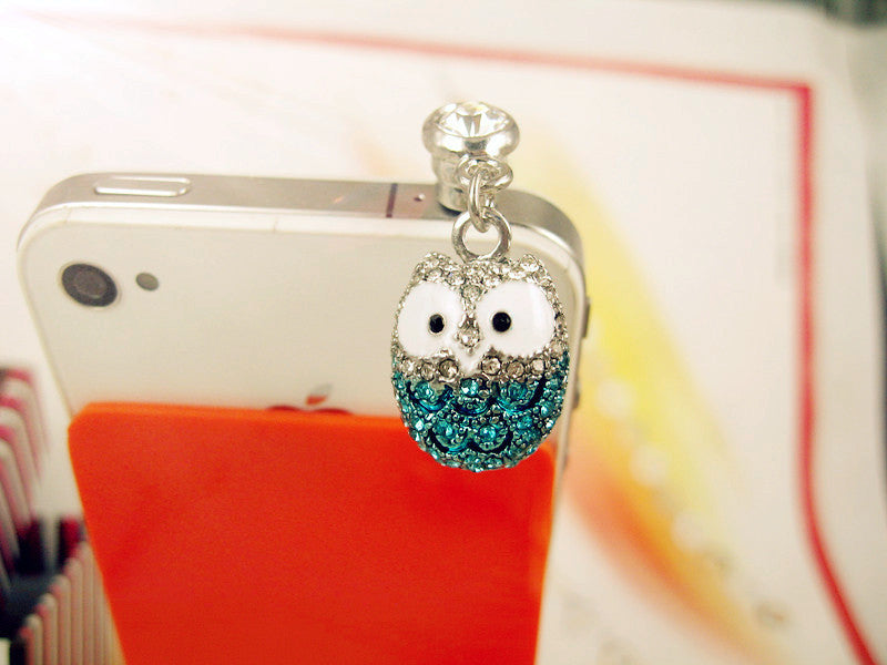 Diamond Owl Phone Plug