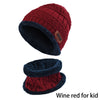 Winter Warm Knitted Beanie & Scarf - for KIDS