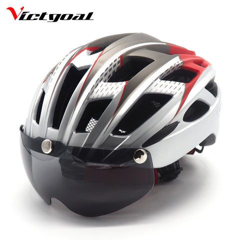 NEW Design - Bike Helmet with Lenses (Magnetic Goggles)