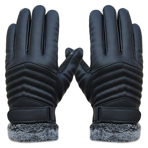 2018 Synthetic Leather Thermal Gloves
