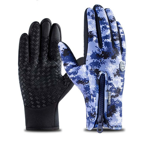 Winter Windproof Outdoors & Cycling Gloves (Camo Style)