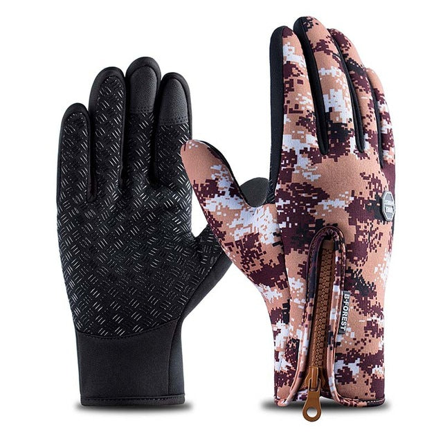 Spring Windproof Outdoors & Cycling Gloves (Camo Style)
