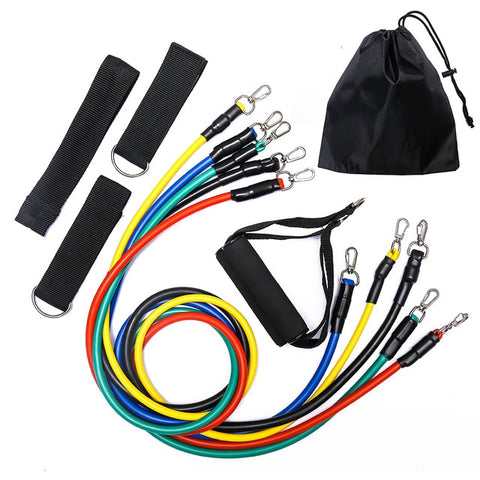 11/12pcs Strength Resistance Band Sets (for Home Workout)
